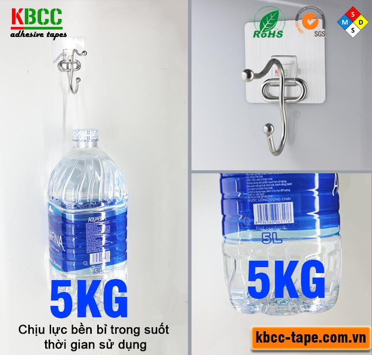 Móc dán tường KBCC-K104 công nghệ Nano siêu dính, giặt sạch bằng nước nếu bẩn kbcc-tape