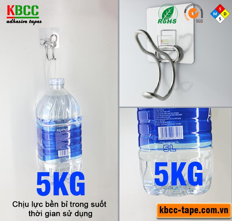 Móc dán tường chịu lực 5kg KBCC-K108