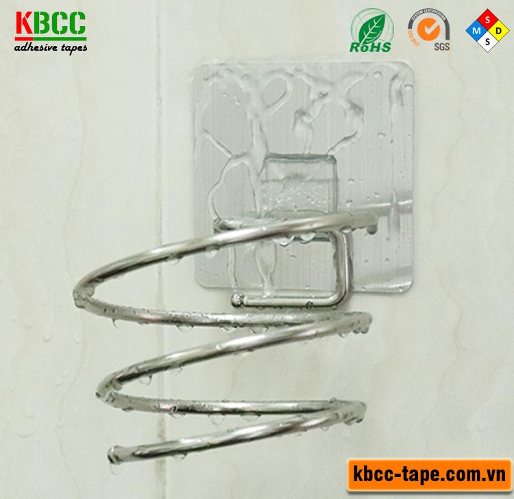 Giá Inox Treo Máy Sấy Tóc Dán Tường Siêu Dính KBCC-K203