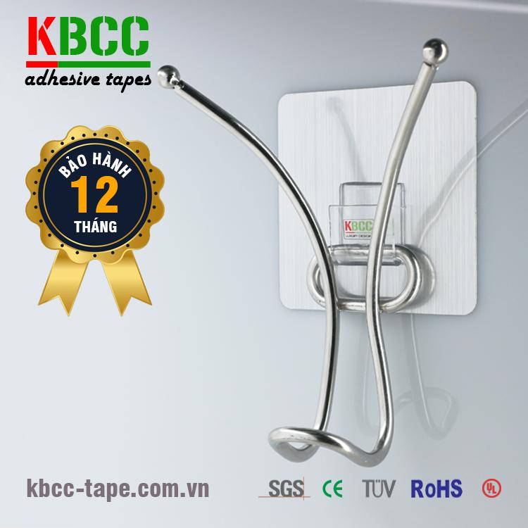 Móc dán tường KBCC-K107 inox 304, tiện ích, lắp đặt nhanh chóng chỉ trong 1 phút kbcc-tape