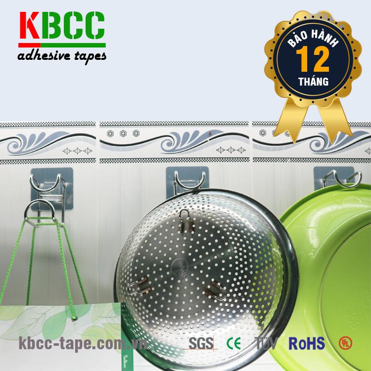 Móc dán tường KBCC-K105 thép không gỉ inox 304 đánh bóng sang trọng kbcc-tape