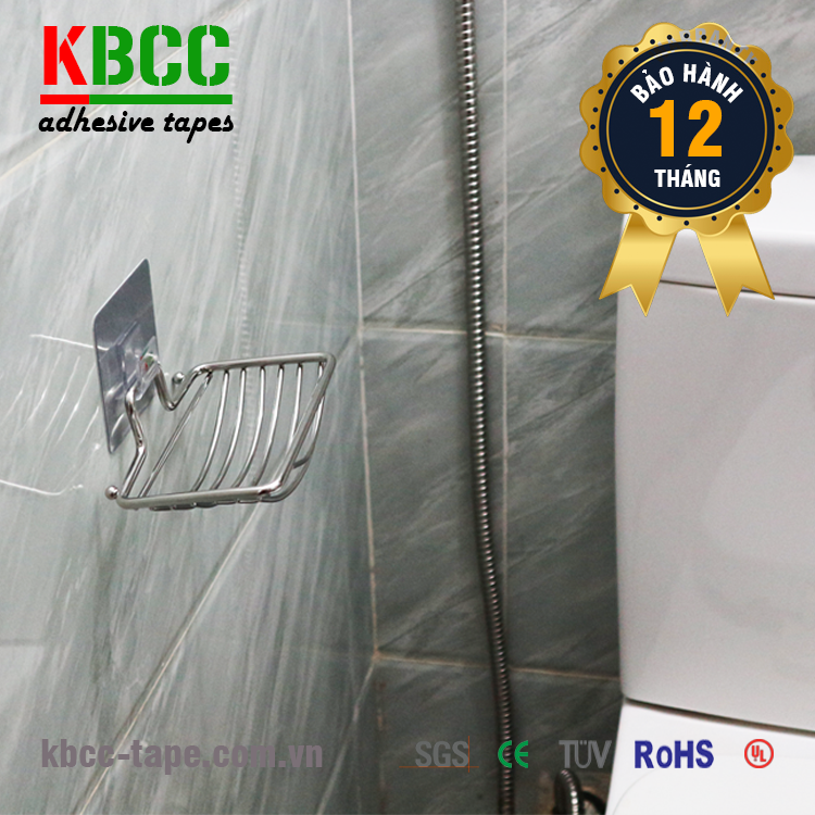 Kệ Inox Xà Bông Dán Tường Nhà Tắm KBCC-K204 Chống Nước