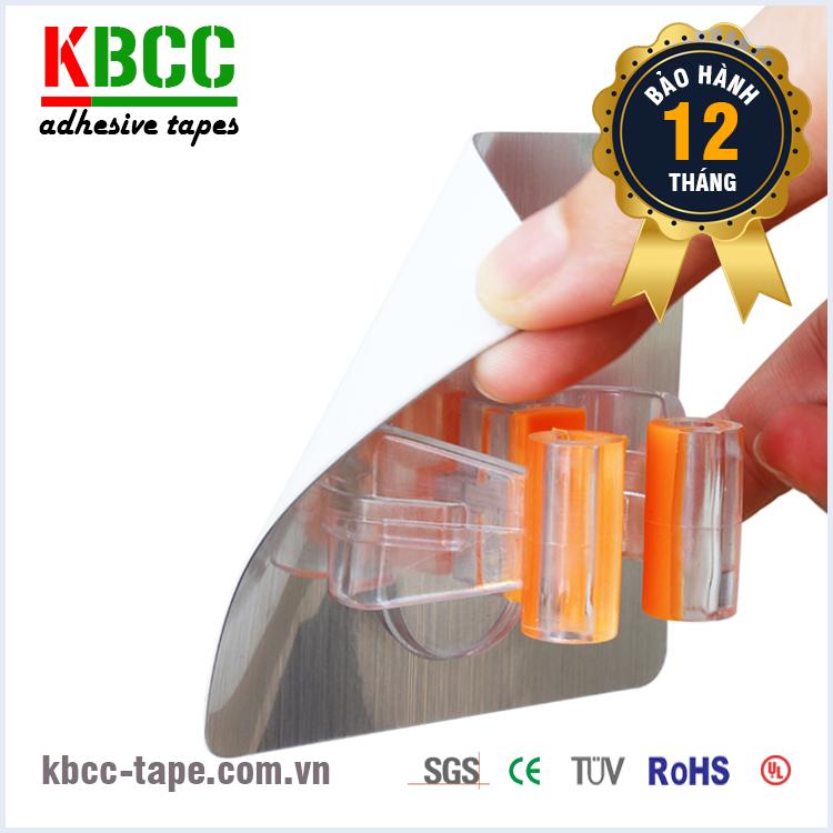 Móc dán tường KBCC-K109 siêu dính, móc treo chổi lau nhà kbcc-tape