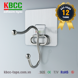 Móc dán tường KBCC-K104 công nghệ Nano siêu dính, giải pháp tiết kiệm không gian cho tủ quần áo